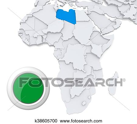Libya On Africa Map.Libya On Africa Map Clipart K38605700 Fotosearch