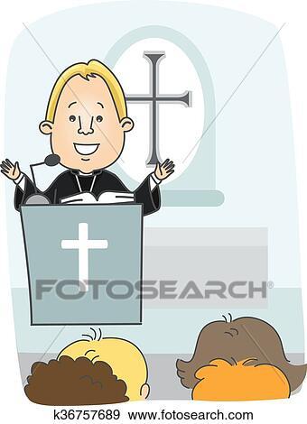 Superior Clip Art   Man Protestant Priest Preach. Fotosearch   Search Clipart,  Illustration Posters,