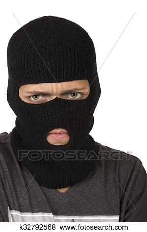 Picture - Teen Boy Wearing A Ski Mask. Fotosearch - Search Stock Photos f6bcb41fa42c