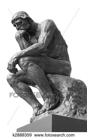 stock photograph of the thinker k2888359 search stock photography