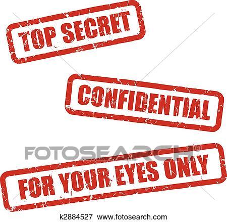 Clip Art Of Top Secret Stamps K2884527