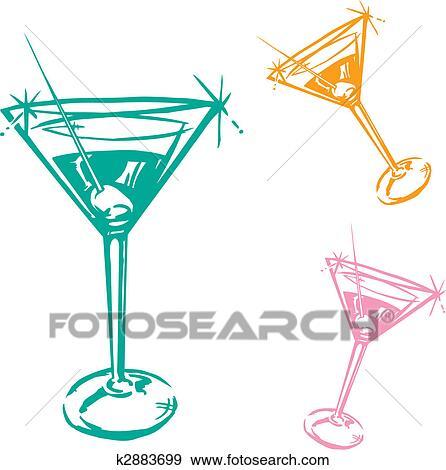 Clipart verre cocktail illustration k2883699 - Dessin cocktail ...