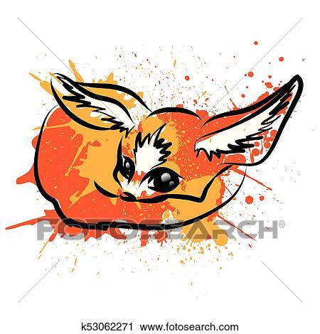 Clipart fennec renard dessin anim caract re k53062271 recherchez des clip arts des - Clipart renard ...