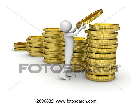clip art of man collecting money k2896882 search clipart