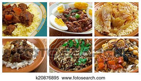 Banque D Image Nourriture Ensemble Africaine Cuisine