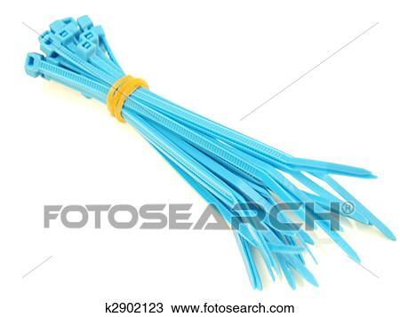 Stock Foto - blau, plastik, draht, stimmengleichheiten k2902123 ...