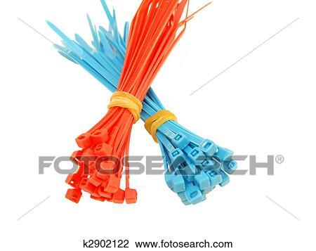 Stock Foto - blau rot, plastik, draht, stimmengleichheiten k2902122 ...
