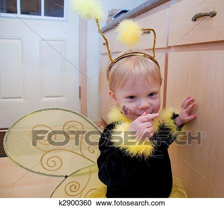 Stock Photography Of Cute Toddler Girl In Bee Costume K2900360