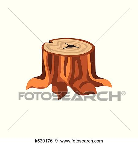 Detailed Cartoon Tree Stump With Roots Clip Art K53017619 Fotosearch All from our global community of graphic designers. fotosearch