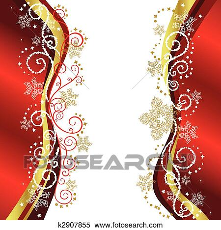 clipart of red gold christmas border designs k2907855 search