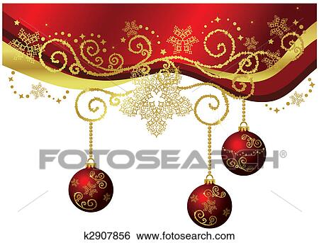 clip art of red gold christmas border isolated k2907856 search