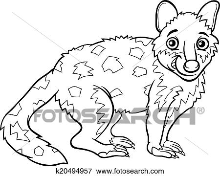 Tiger Quoll Animal Coloring Book Clip Art