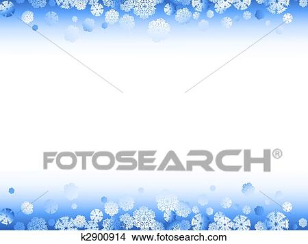 Clipart of winter snowflakes frame k2900914 - Search Clip Art ...