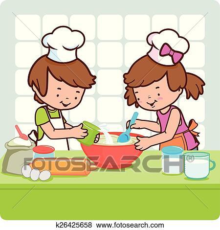 clipart cucina clip art bambini cottura cucina k26425658 cerca