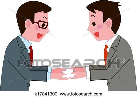 Clipart of business card exchange k17841300 search clip art clipart business card exchange fotosearch search clip art illustration murals drawings colourmoves