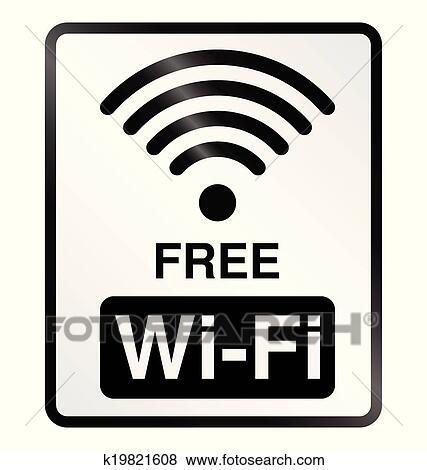 Free WiFi Information Sign Clip Art
