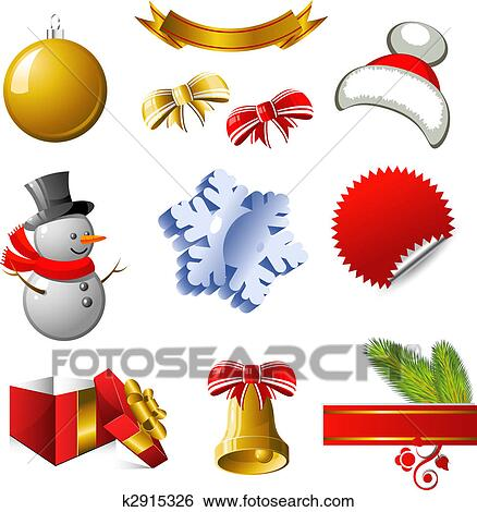 clip art new year and christmas design elements fotosearch search clipart illustration
