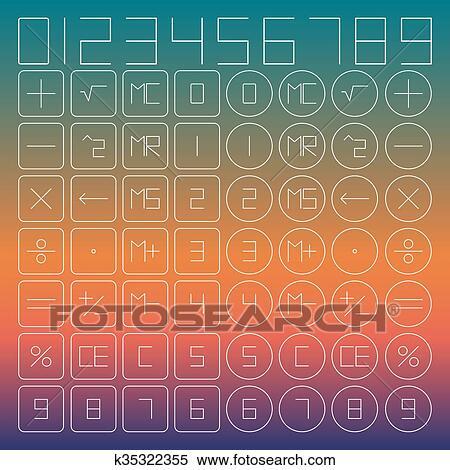 Stock Illustration Of Set Of Mathematical Symbols K35322355 Search