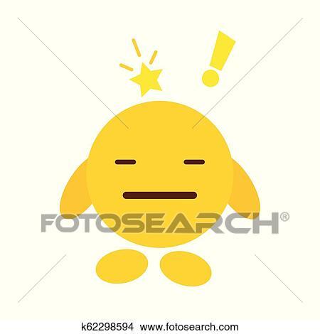 Triste Emoji ícone Desenho Vetorial Clipart