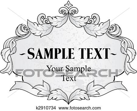 ed0ae21115 Clipart - vendimia, marco. Fotosearch - Buscar Clip Art, Ilustraciones de  Murales,