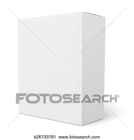 Clipart of White vertical cardboard box template. k26733781 - Search ...