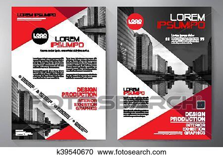 Business brochure flyer design a4 template  Clipart