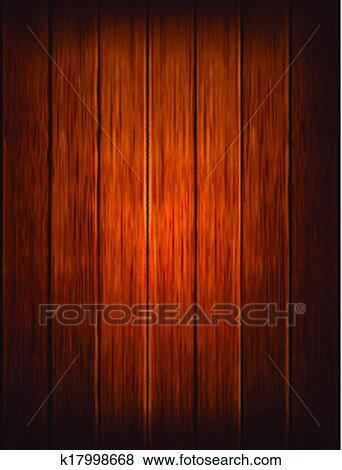 Clip Art Of Dark Wood Background Vector Illustration K17998668