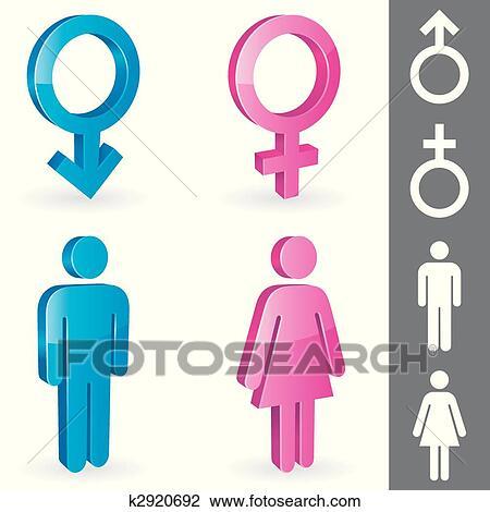 Clipart Of Gender Symbols K2920692 Search Clip Art Illustration