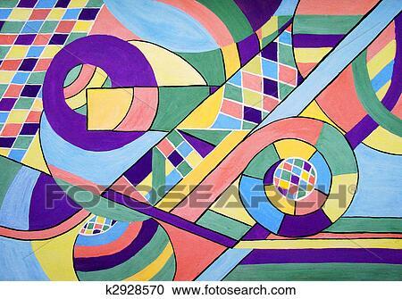 Archivio Illustrazioni   Pittura, Di, Geometria, Estratto