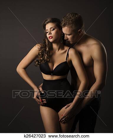 Femme Homme Sexy banque de photo - sexy, couple, femme homme, portrait, femme