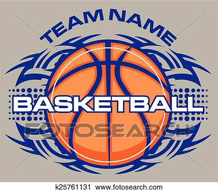 Clipart Of Tribal Basketball K25761131 Search Clip Art