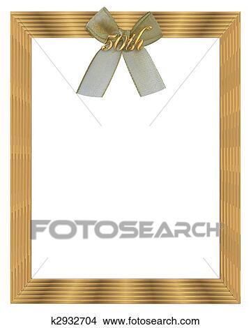 50th Huwelijk Verjaardag Frame Tekeningen K2932704