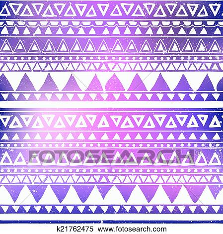 Aztec Tribal Seamless Pattern Clipart