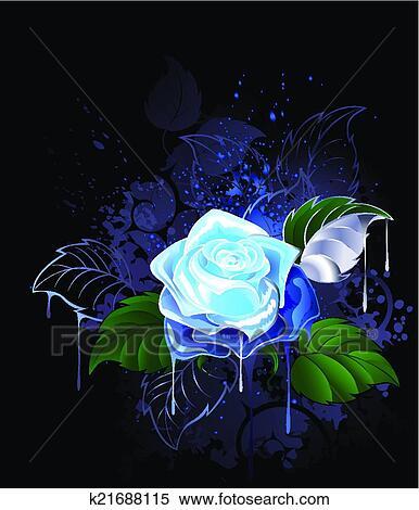 Blu Rosa Clipart K21688115 Fotosearch