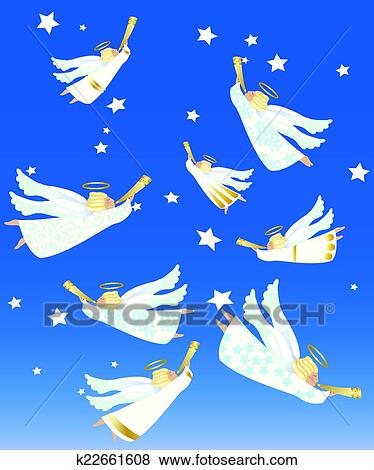 Christmas Angels.Christmas Angels Clip Art