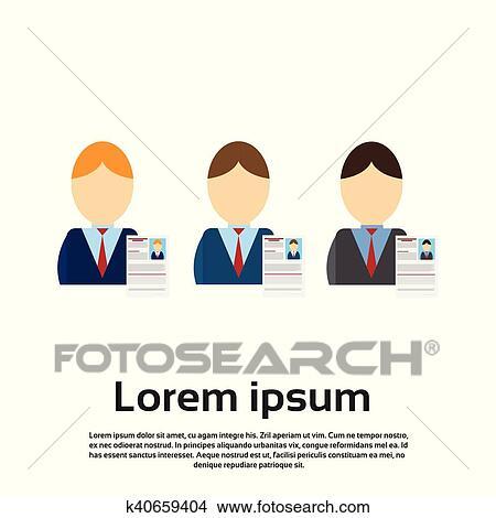 Clipart Of Curriculum Vitae Recruitment Candidate Job Position Cv