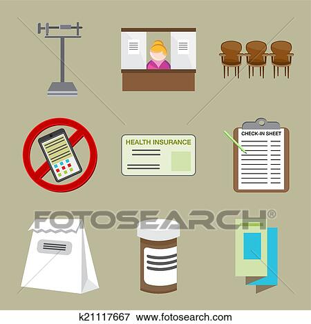 clip art of doctors office icons k21117667 search clipart