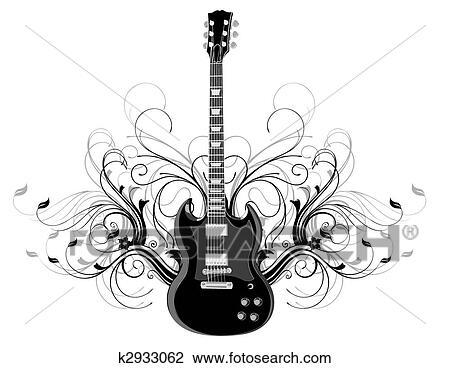 Guitarra Desenho K2933062 Fotosearch