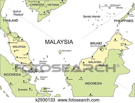 Clipart of malaysia major cities and capital and surrounding clipart malaysia major cities and capital and surrounding countries fotosearch search clip freerunsca Gallery