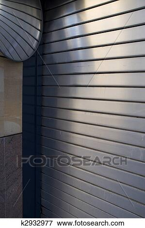 Picture Of Roller Shutter Garage Door With Mirror K2932977 Search