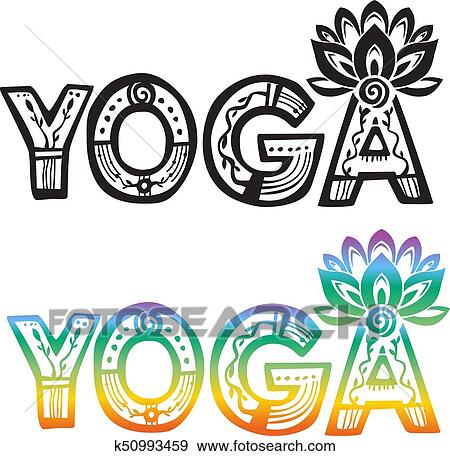 Clip art of word yoga with lotus flower k50993459 search clipart clip art word yoga with lotus flower fotosearch search clipart illustration posters mightylinksfo