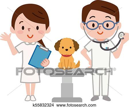 طبيب بيطري أيضا الكلب Clipart K55832324 Fotosearch