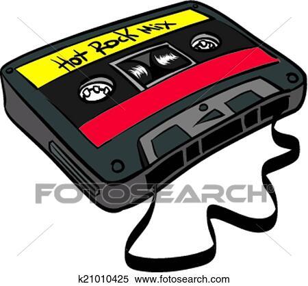 カセットテープ クリップアート切り張りイラスト絵画集