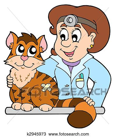 Dessin - chat, à, vétérinaire k2945973 - Recherchez des ...