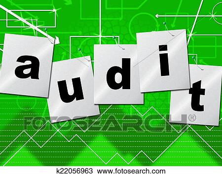 drawing graph audit indicates auditing infograph and scrutiny fotosearch search clipart illustration