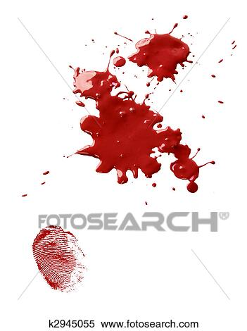 Stock image of blood stains and fingerprint k2945055 for Blood in blood out mural