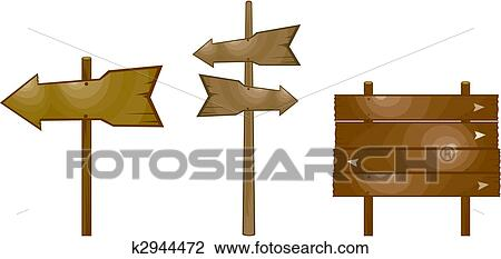 clipart of wood arrow sign k2944472 search clip art illustration rh fotosearch com wood arrow sign clipart blank wood sign clipart