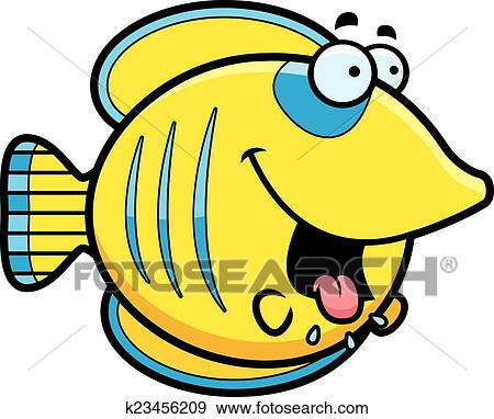 clip art of hungry cartoon butterflyfish k23456209 search clipart rh fotosearch com hungary clip art clipart angry face