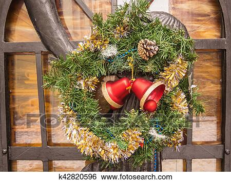 Wreath Salad For Christmas Stock Images K42820596