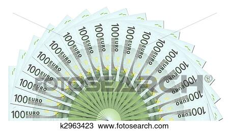drawing of 100 euro notes half circle template k2963423 search